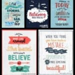 5 growth mindset posters
