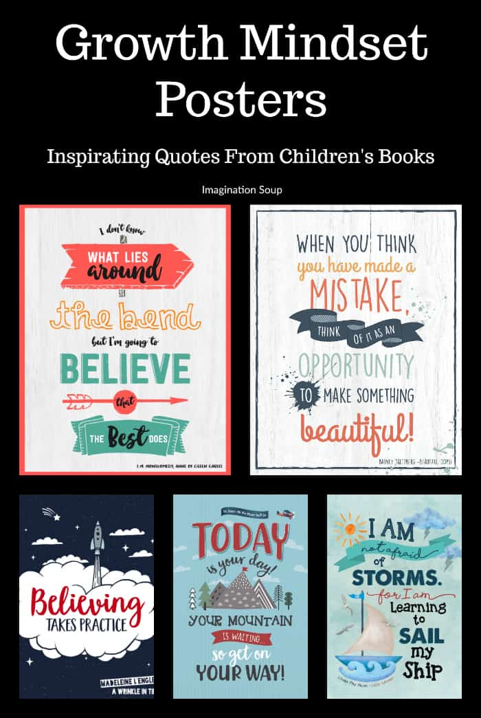Growth Mindset Posters Quotes From Children's Books