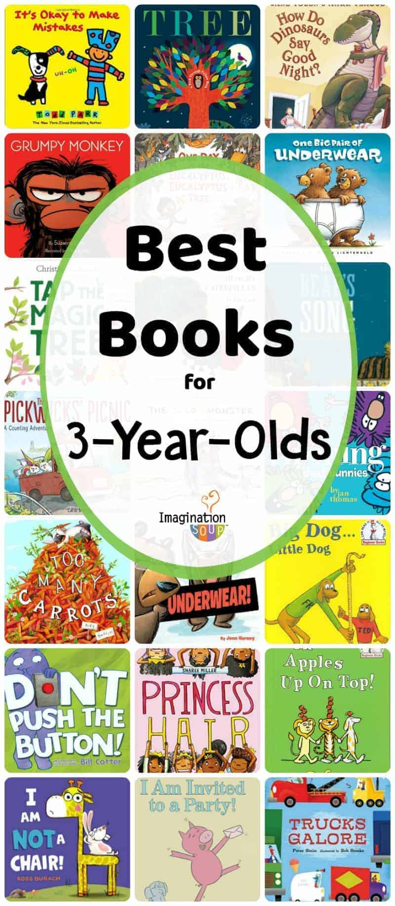 best books for 3 year olds that they'll love