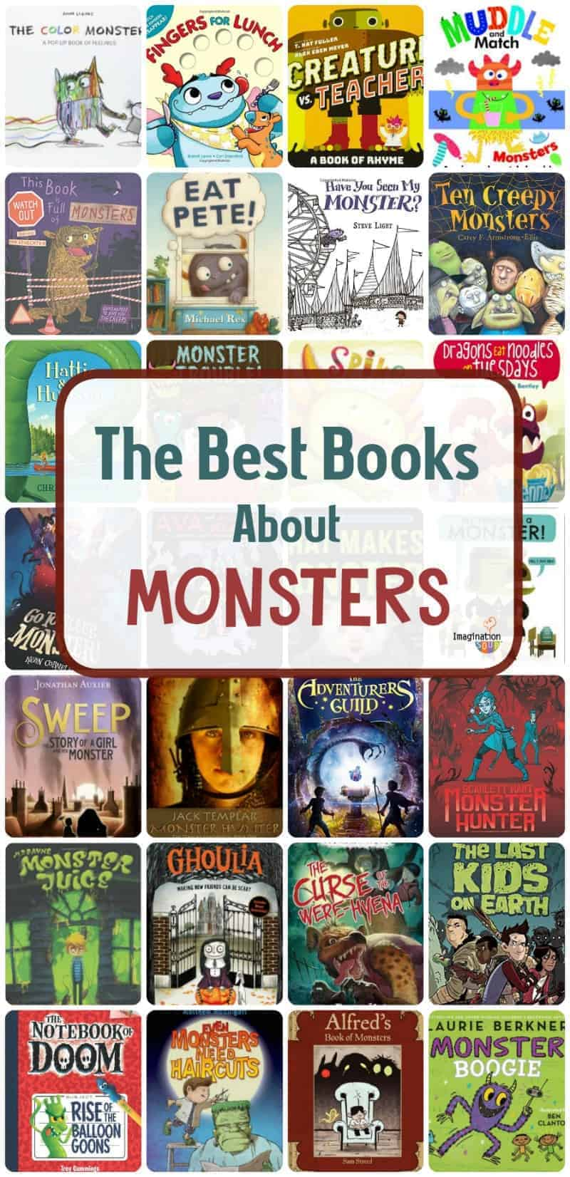 the best picture and chapter books about monsters that kids LOVE! #kidsbooks #childrensbooks