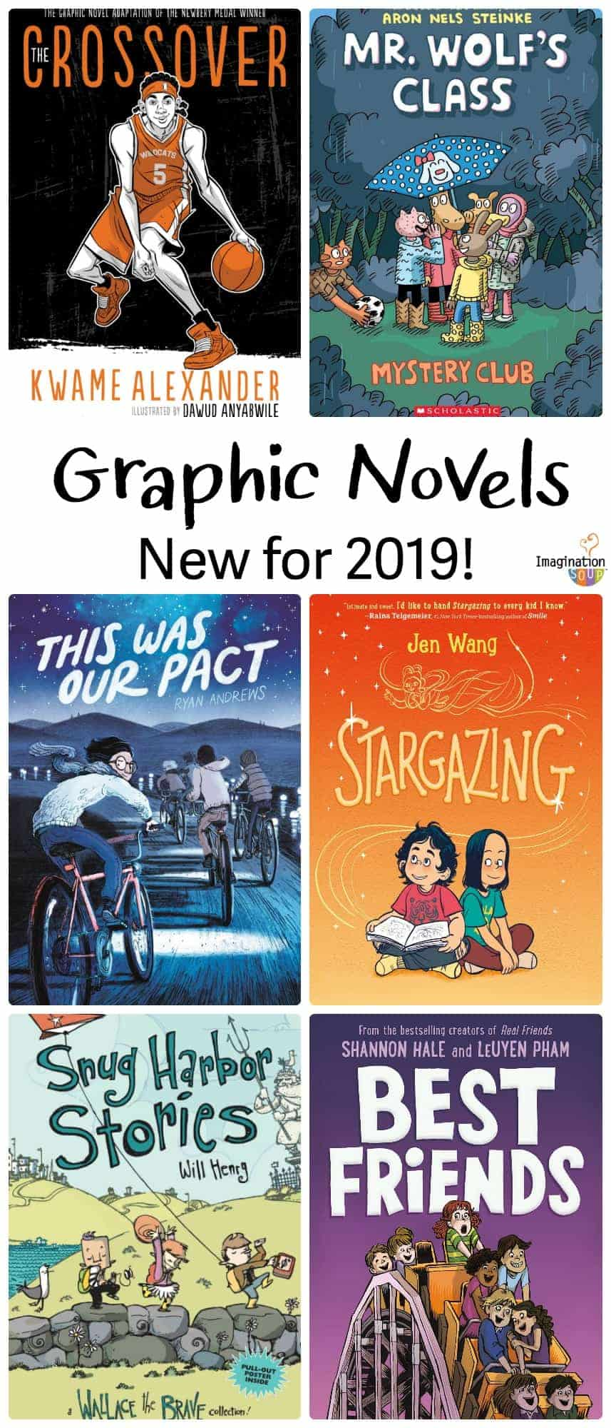 6 New Graphic Novels for Readers Ages 6 - 12 (2019)