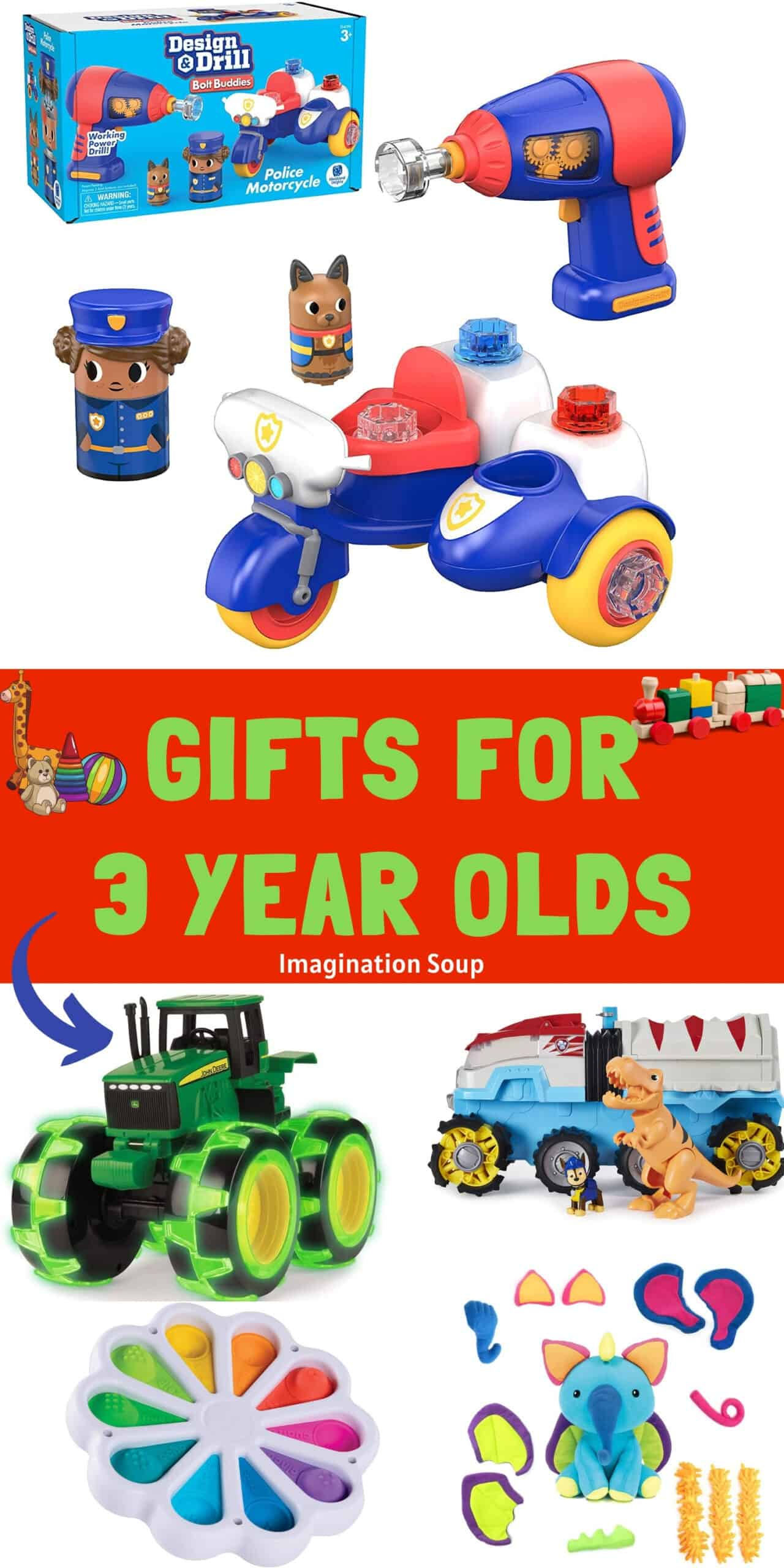 Toys and Gifts for 3 Year Olds
