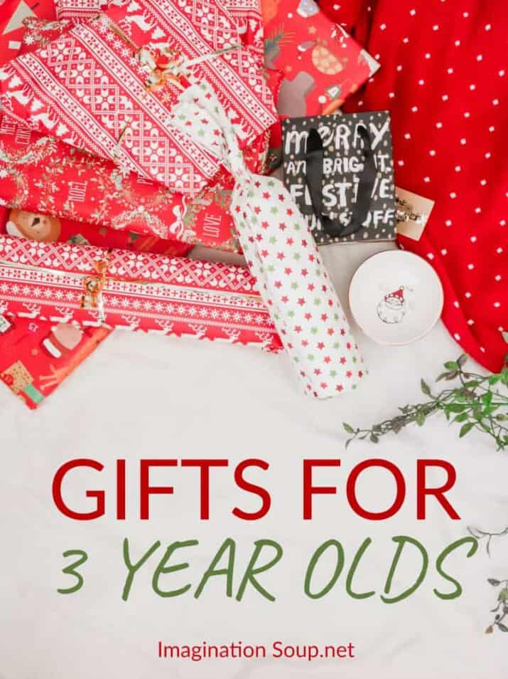 The BEST toys and gifts for 3 year olds that will provide hours of imaginative pretend play time, develop fine and gross motor skills, practice preschool skills, and more!