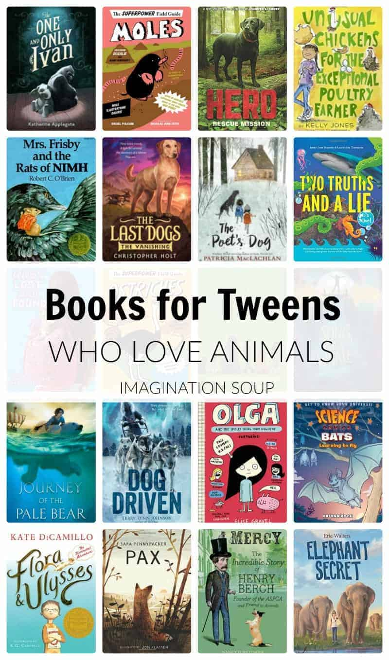 good books for tweens who love animals