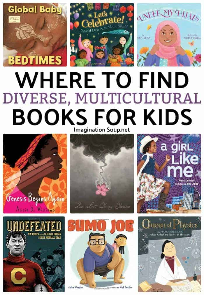 Find curated lists of multicultural, diverse books for kids so you can keep up with the best children's books!