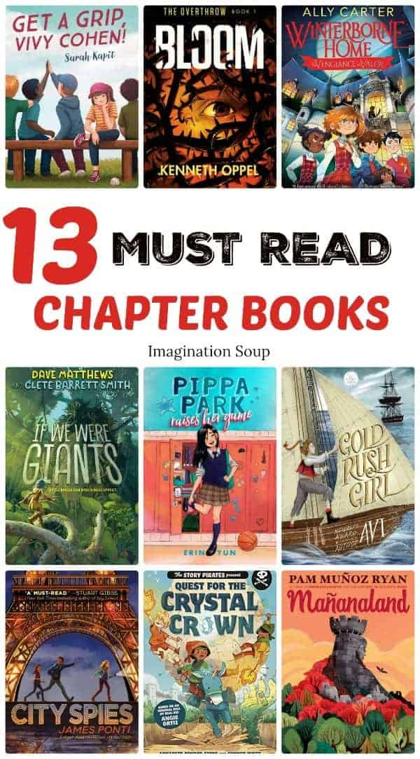 13 must read chapter books for upper elementary and middle school (ages 9 - 12)