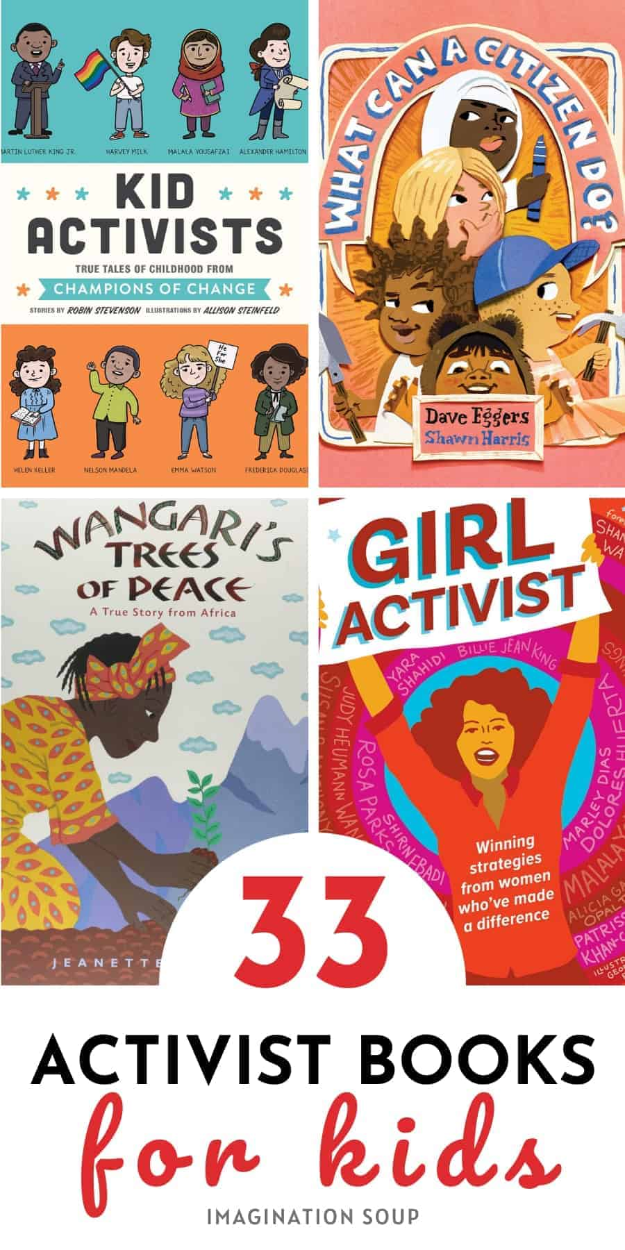33 children's books about activists for kids