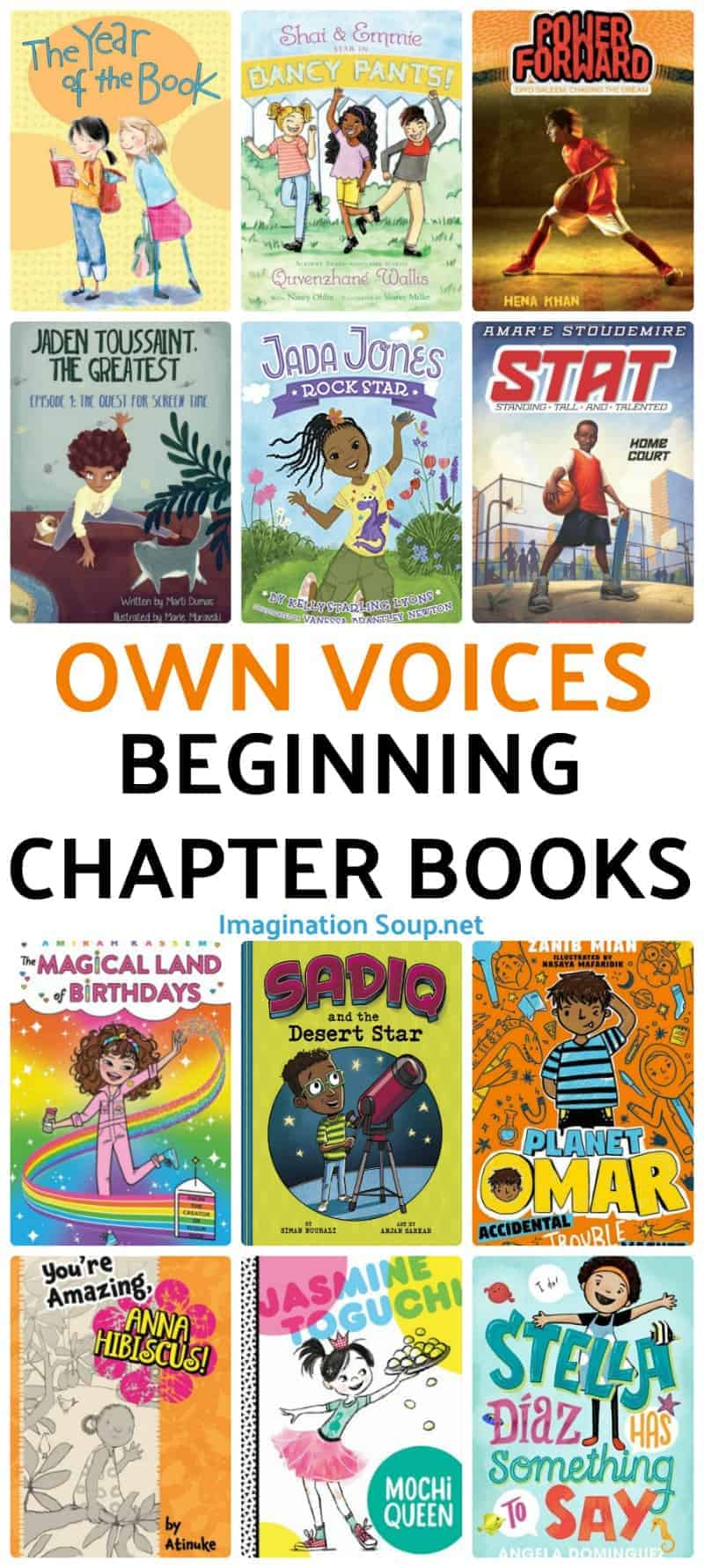 OwnVoices Beginning Chapter Books for Kids Ages 6 - 8