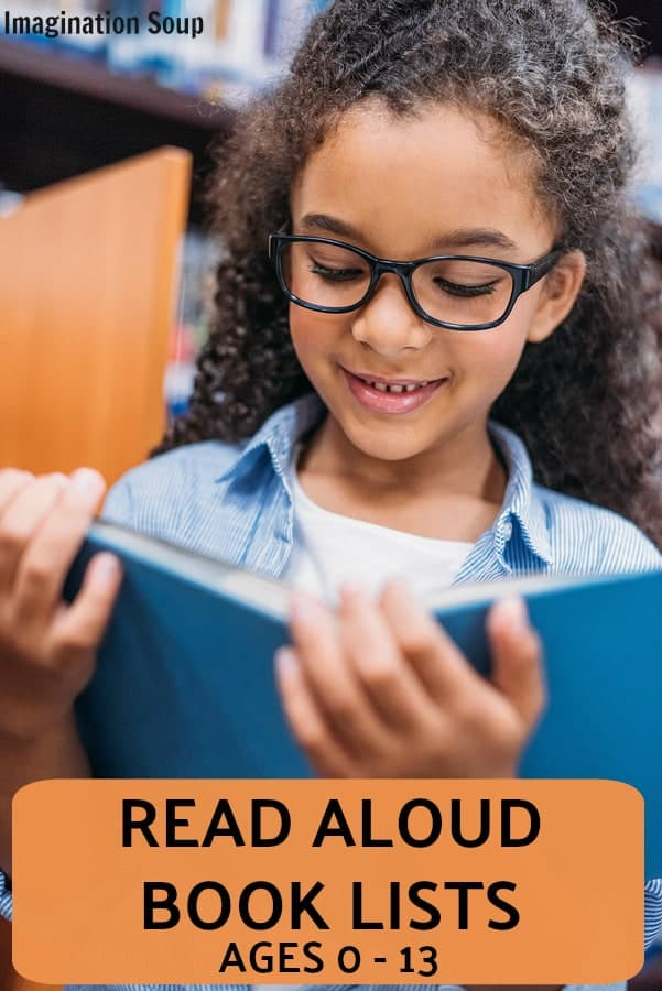 read aloud book lists for kids ages 0 - 13