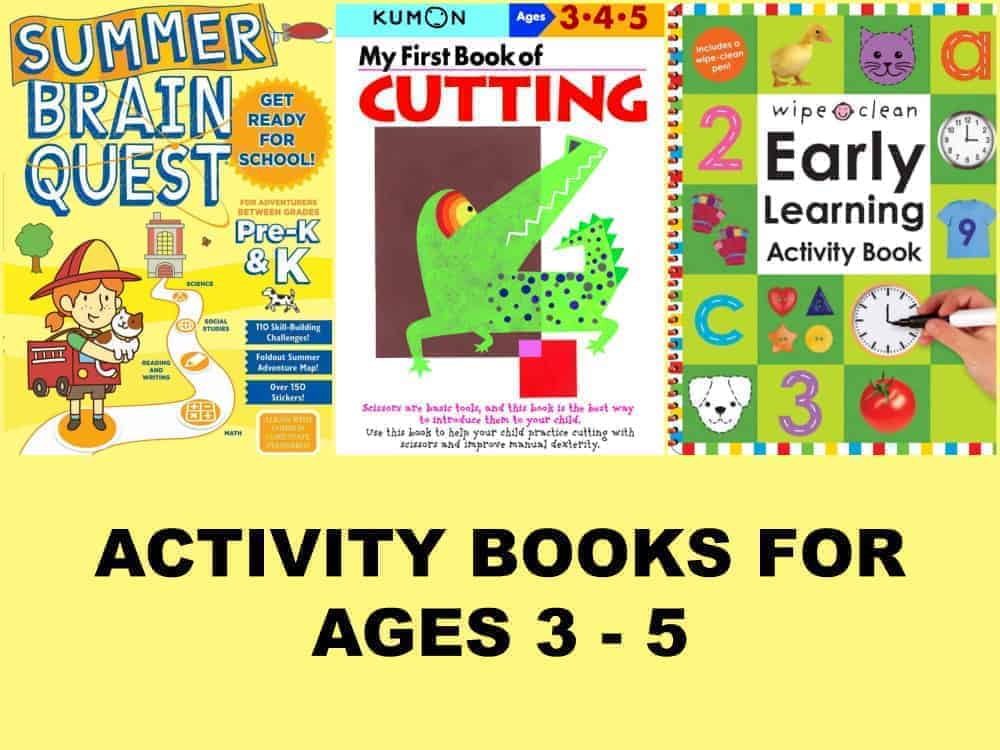 activity books for ages 3 - 5