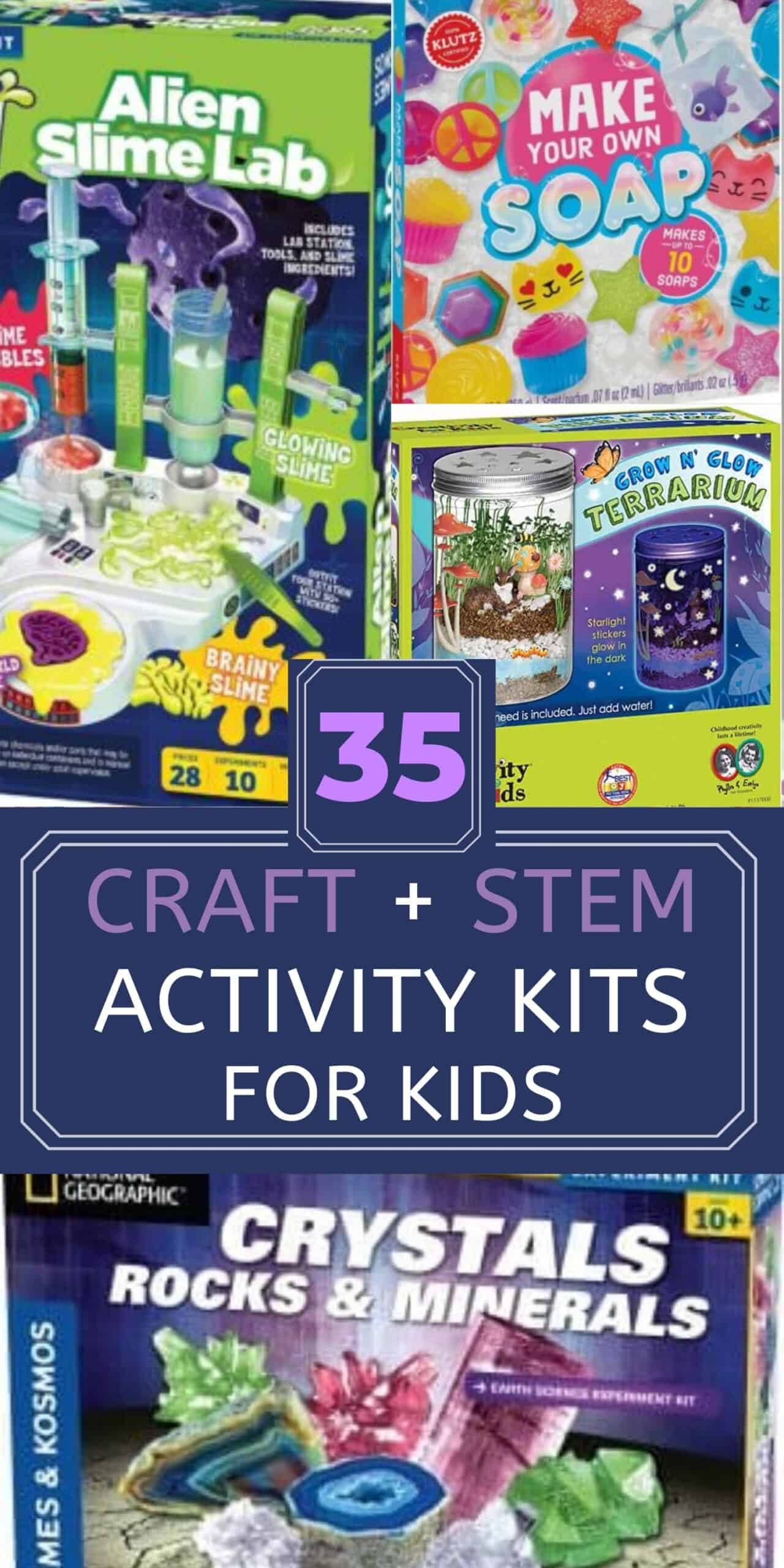 craft and stem activities for kids pin