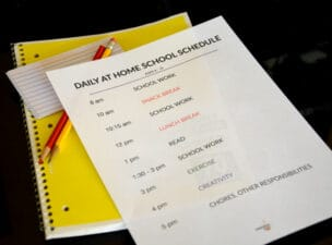 homeschooling schedule due to school closures