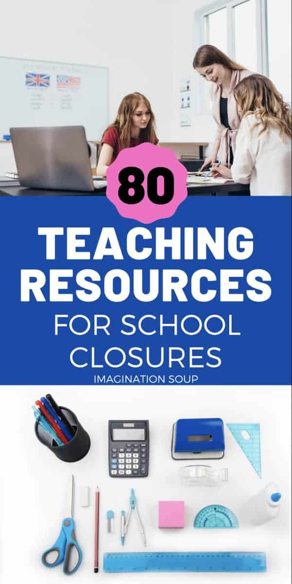 huge list of teaching resources for school closures and online learning