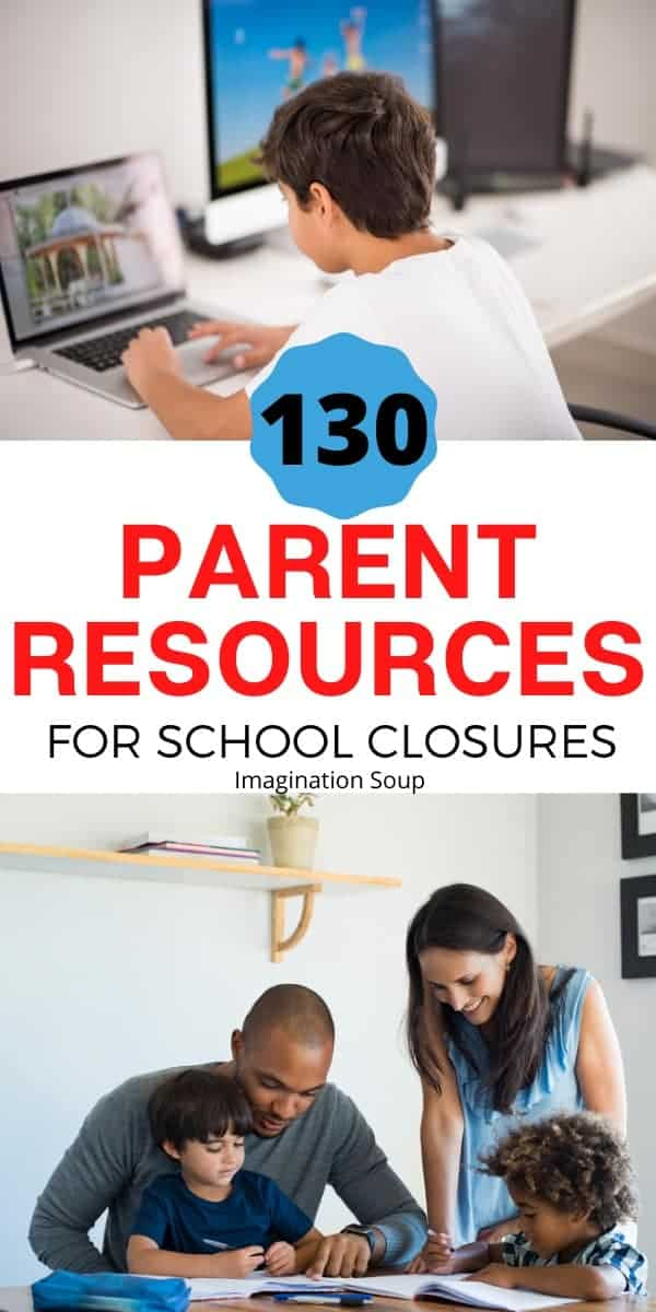 parent resources for Coronavirus related school closures and homeschooling all ages and school subjects