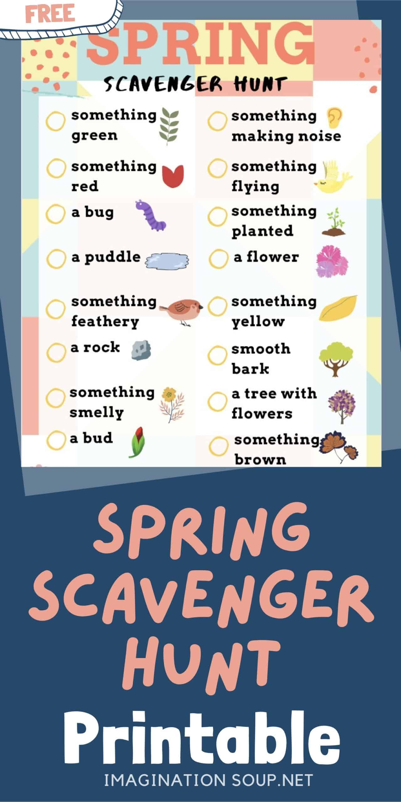Spring Scavenger Hunt FREE PRINTABLE