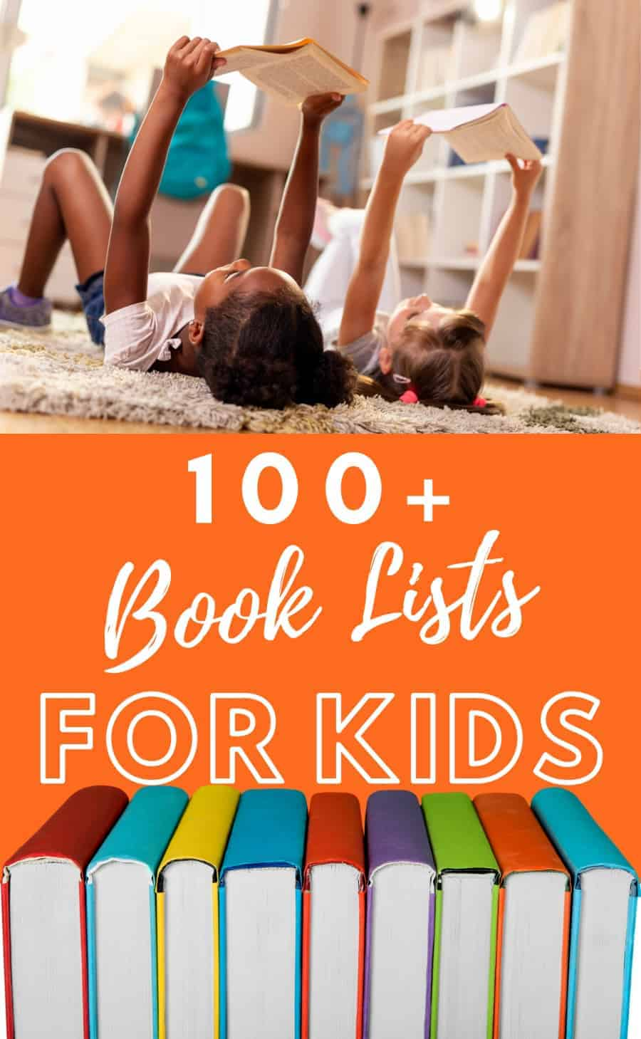 100 book lists of children's book recommendations for kids