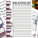 Printable Indoor Word Scavenger Hunt