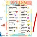 Printable Spring Scavenger Hunt for Kids