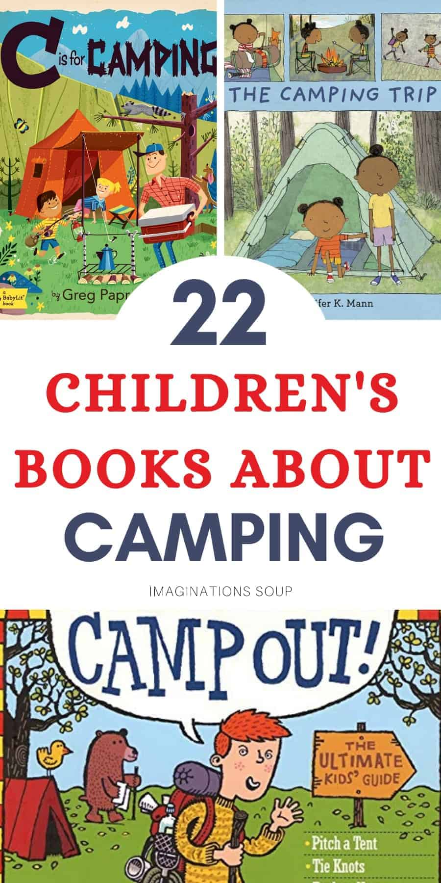 22 children's books about camping and hiking