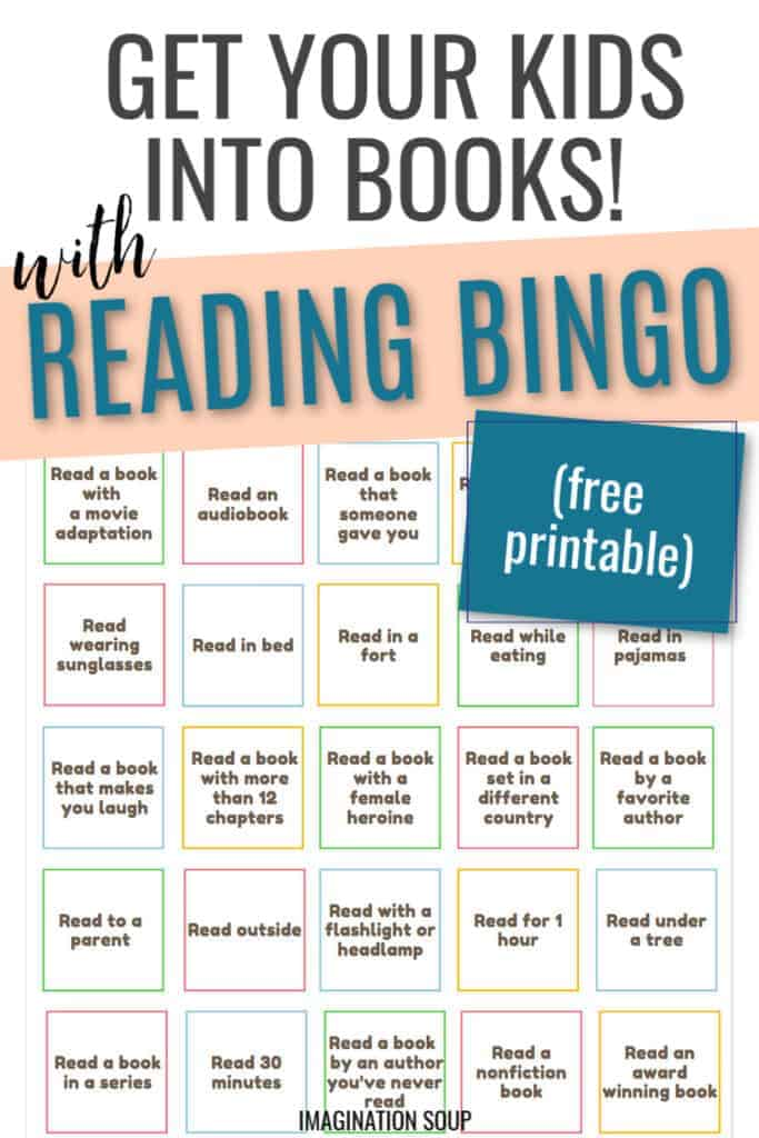 FREE summer reading bingo challenge for kids