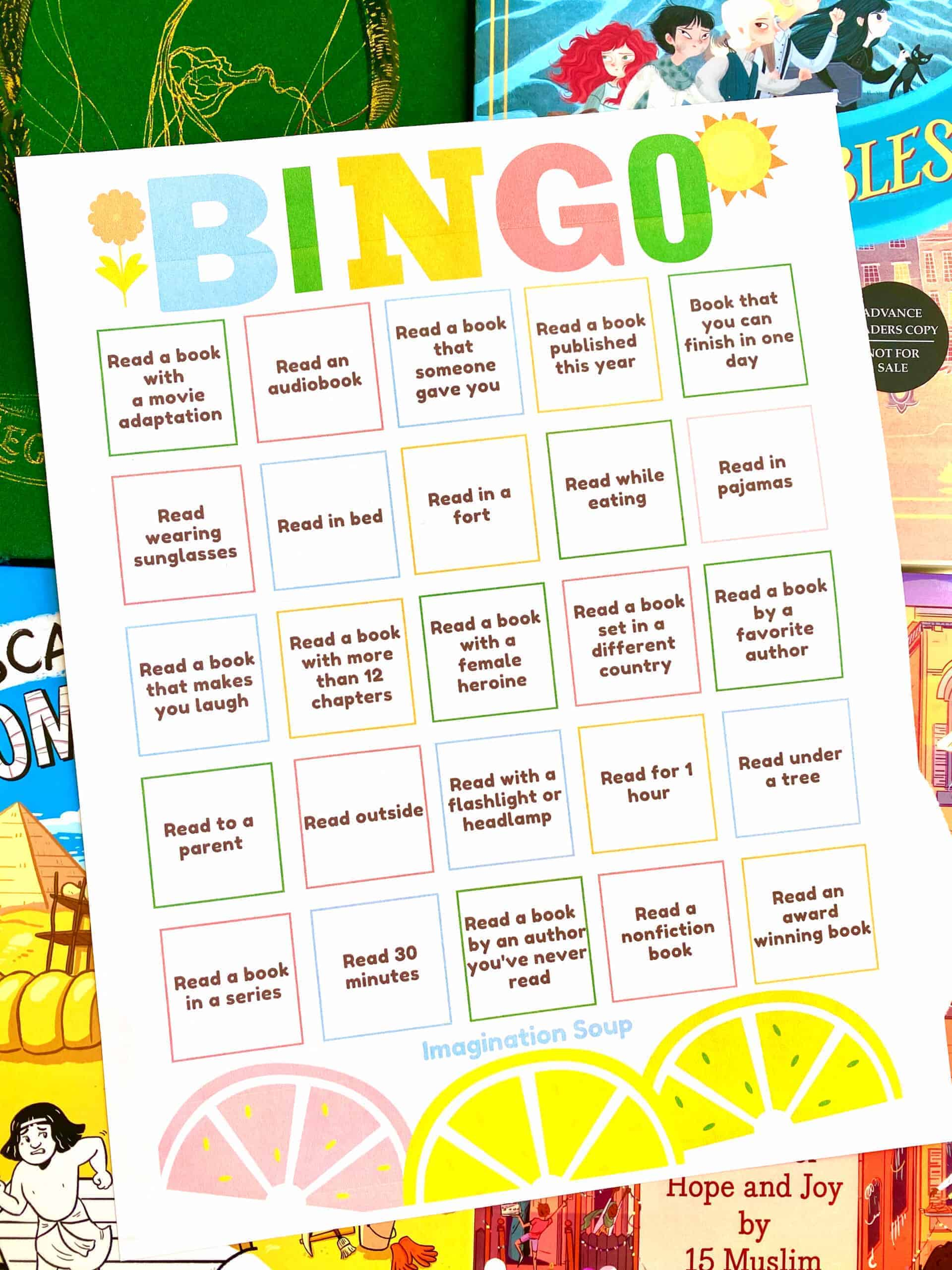 Free Printable Summer Reading Bingo for Kids