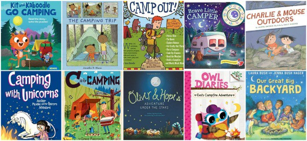 good children's books about camping and hiking