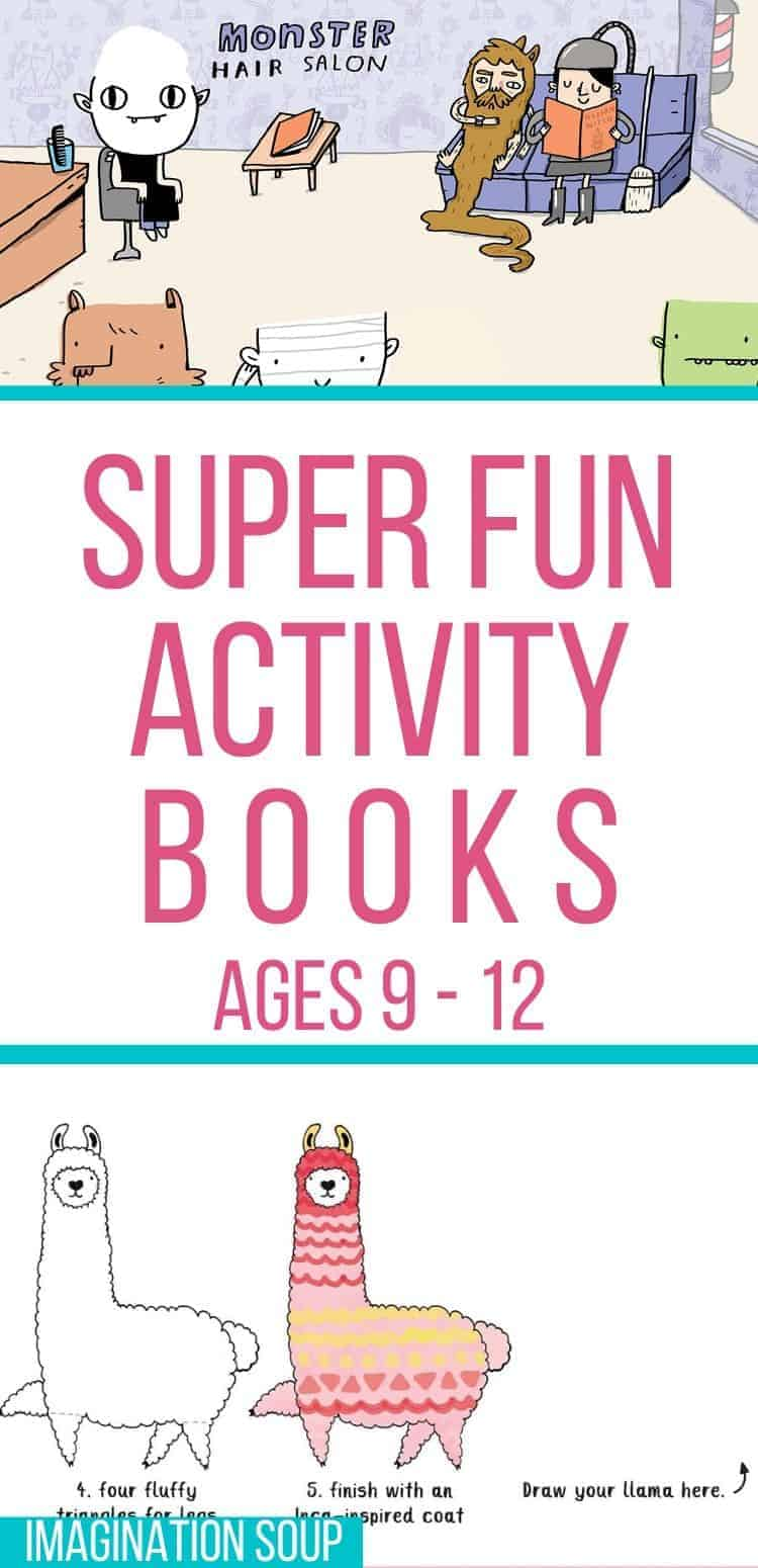fun and educational activity books for kids ages 9 to 12