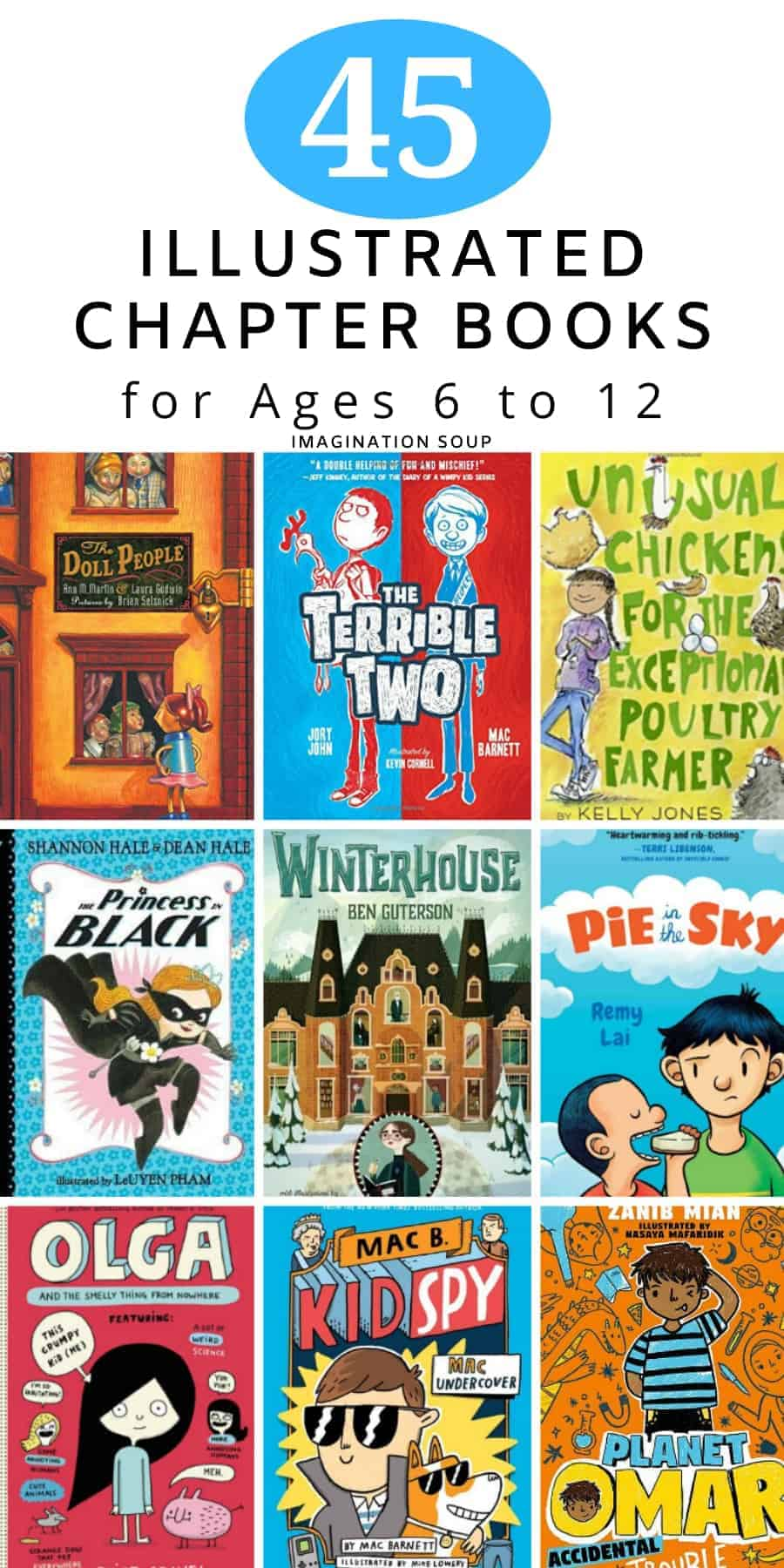 popular illustrated chapter books for emergent and middle grade readers