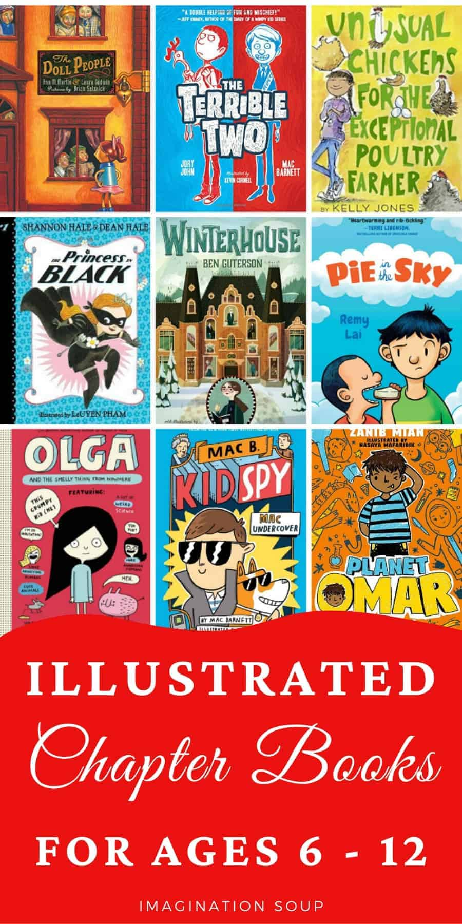 the best illustrated chapter books for kids ages 6 to 12