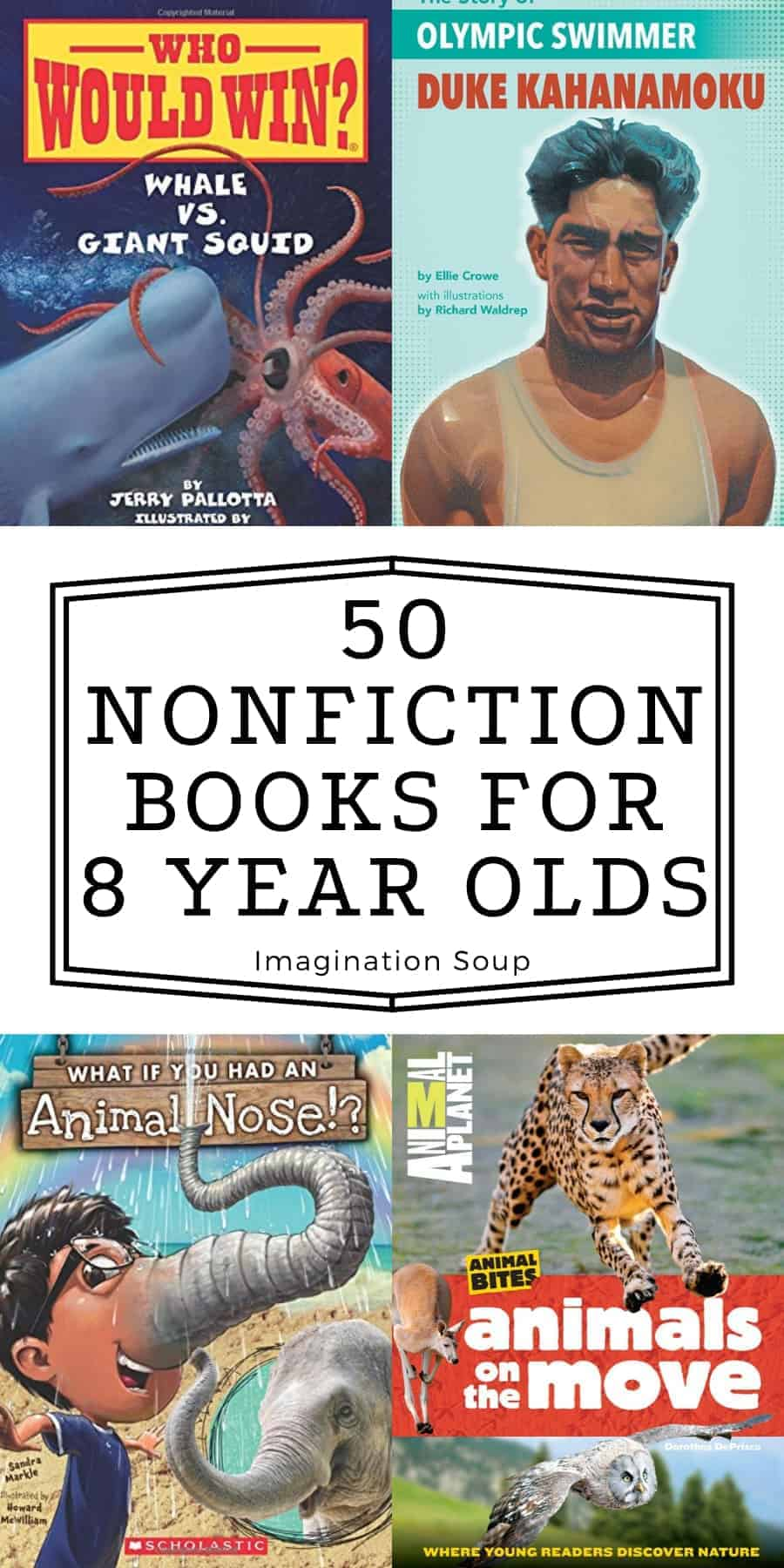 50 nonfiction books for 8 year olds for 3rd graders