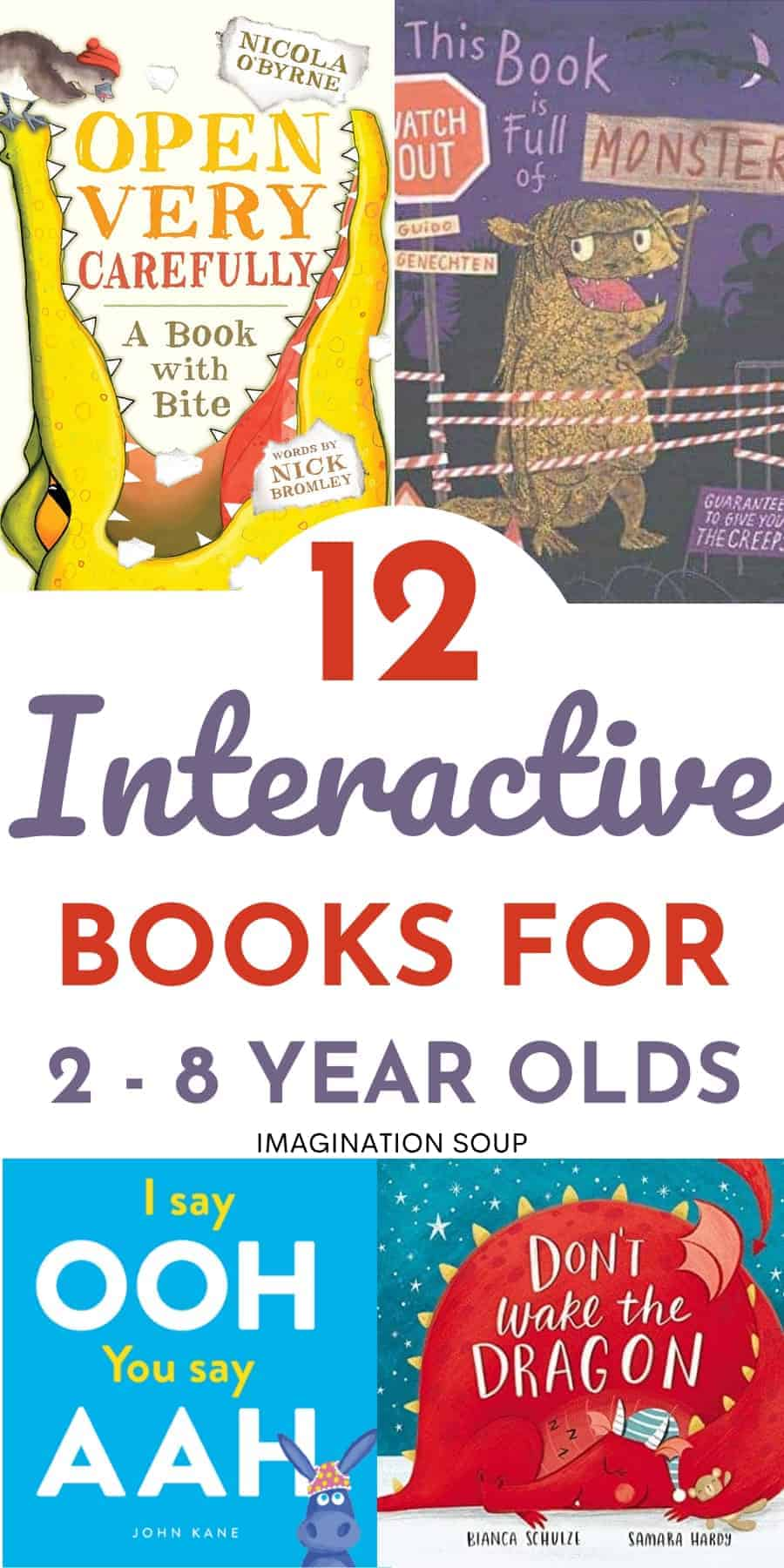 12 interactive books for ages 2 to 8