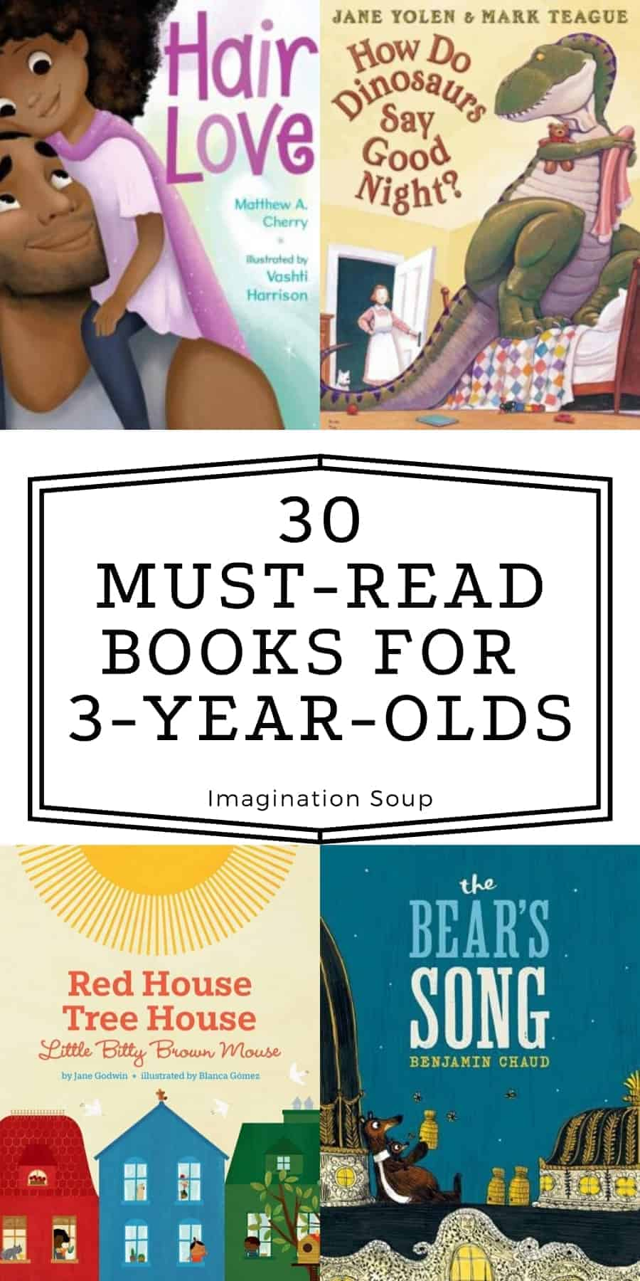 30 must read books for 3 year olds
