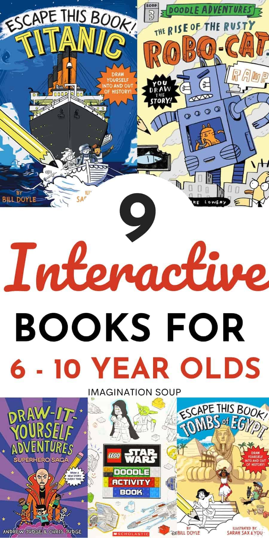 interactive adventure books for ages 6 to 10 (great for reluctant readers)