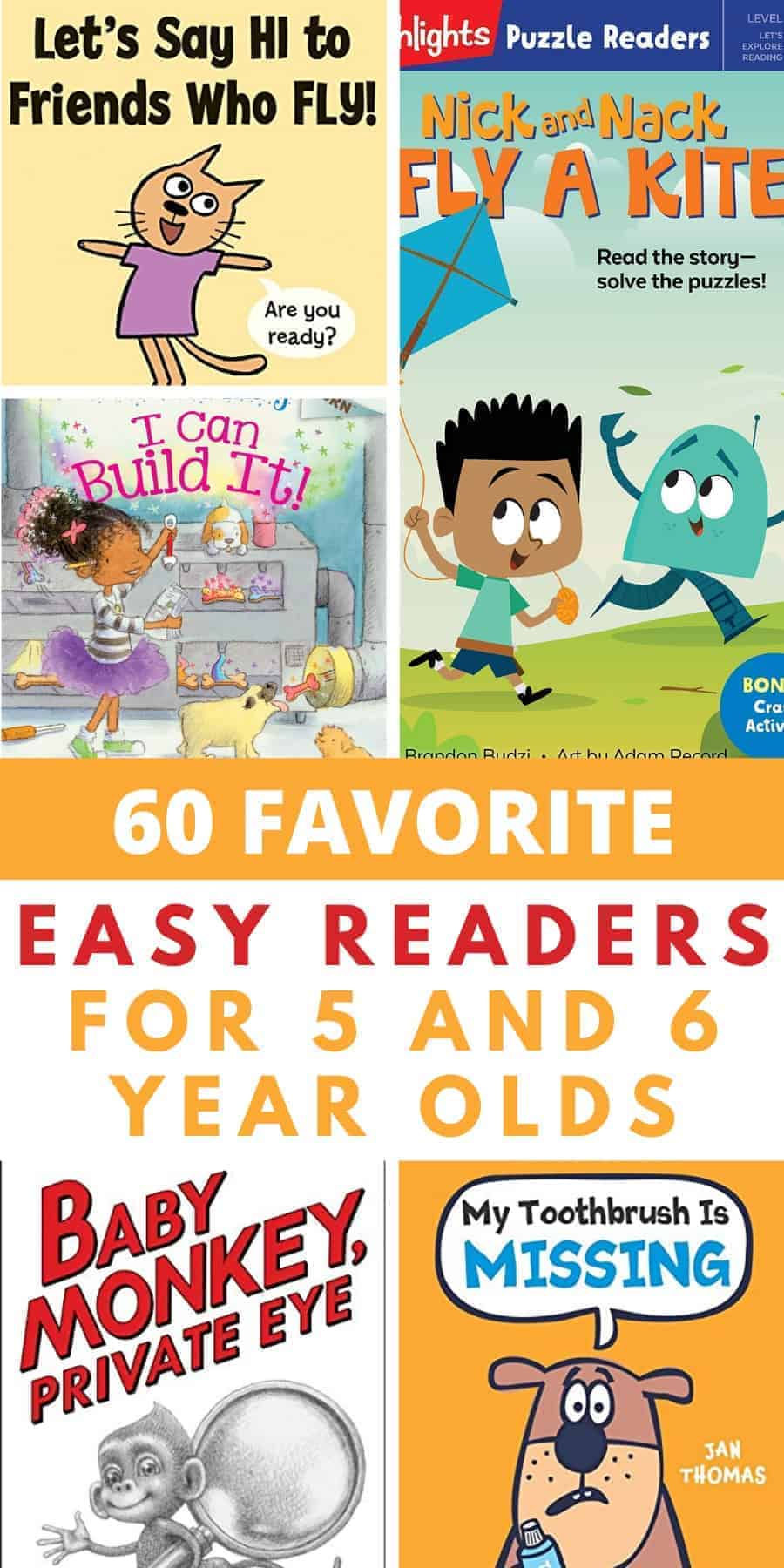 favorite easy readers for 5 and 6 year olds