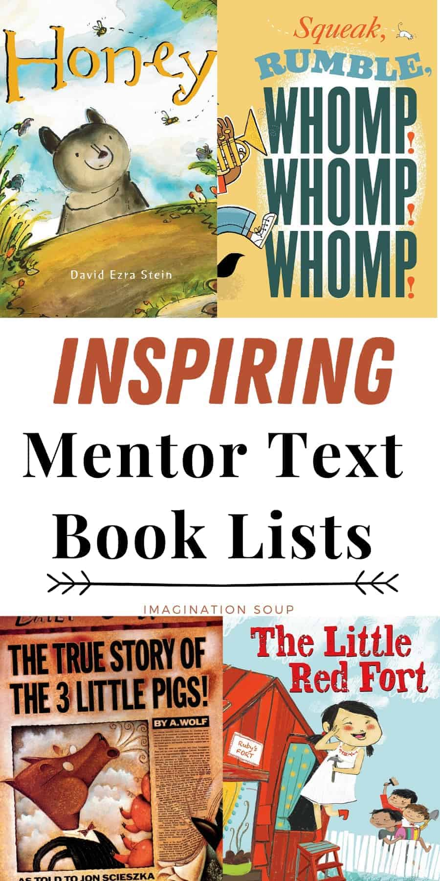 mentor text book lists for elementary classroom teachers and homeschoolers