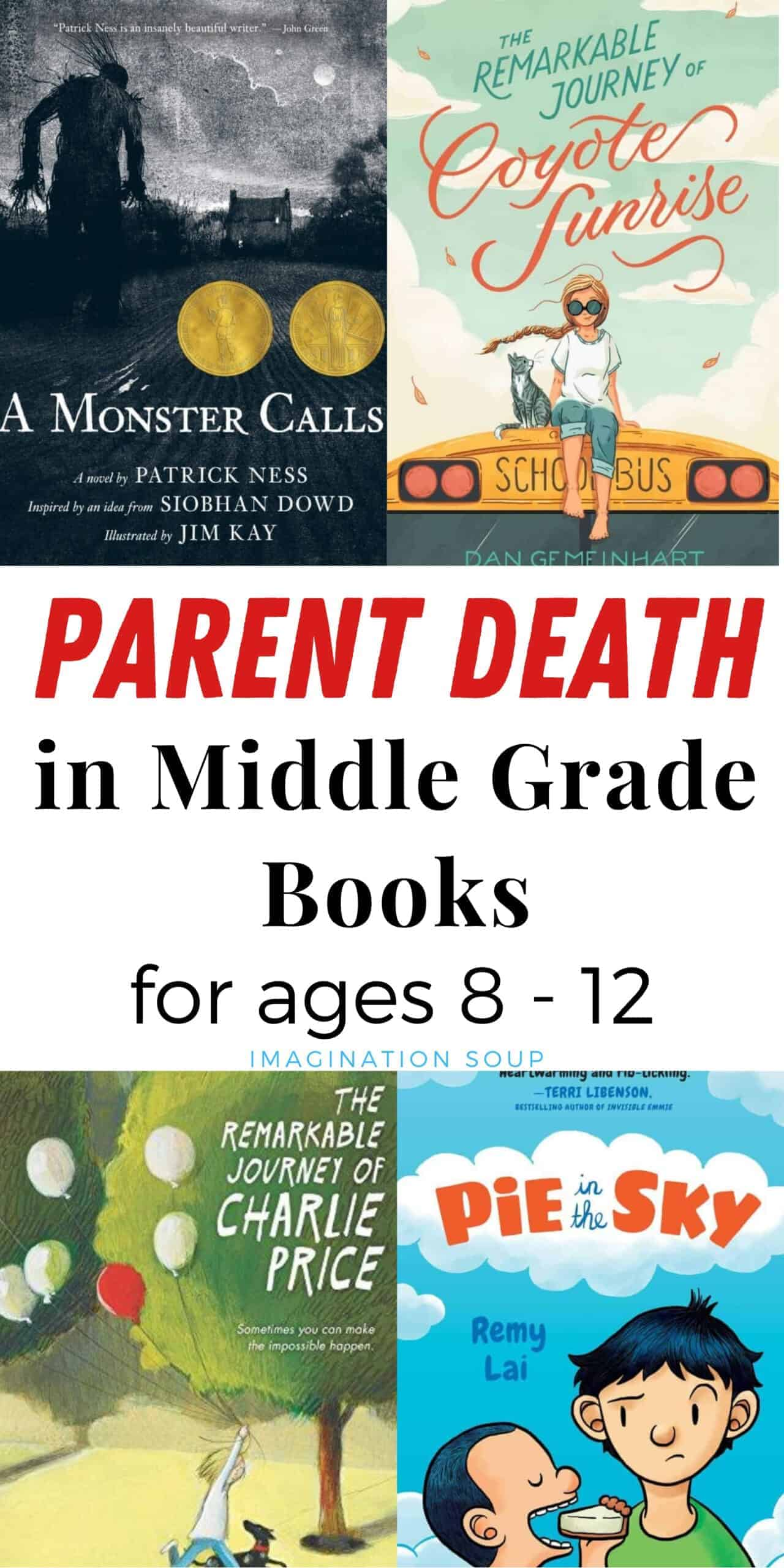 parent death in middle grade books ages 8 to 12