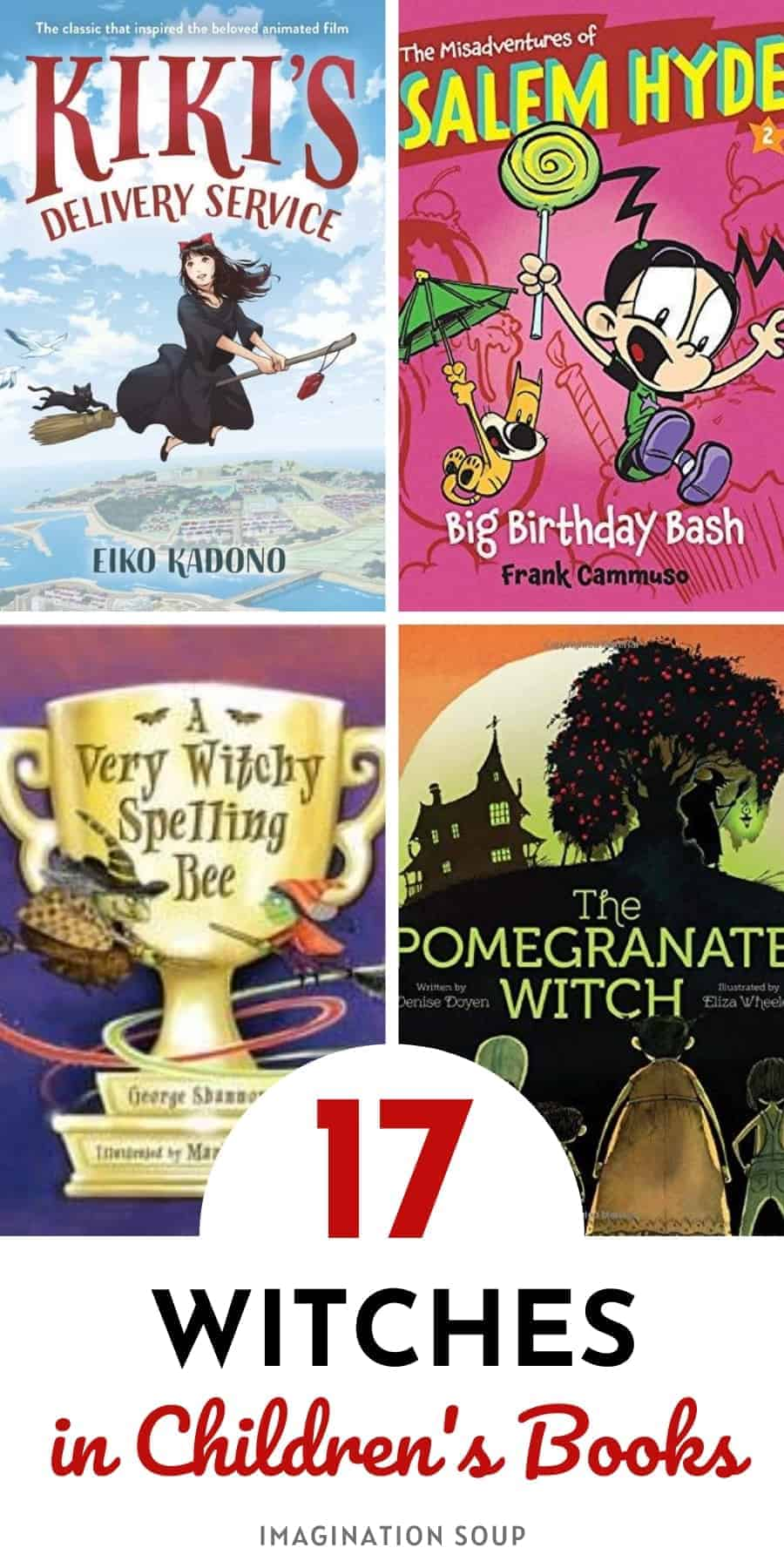 picture books and chapter books about witches