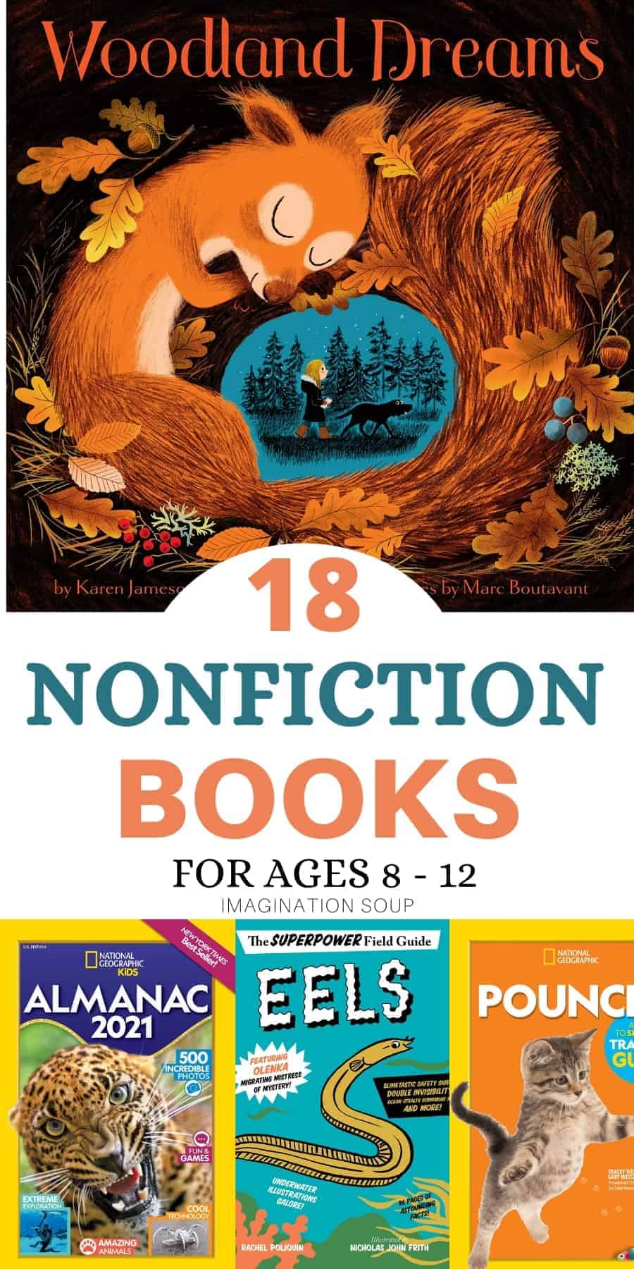 New nonfiction books for ages 8 to 12