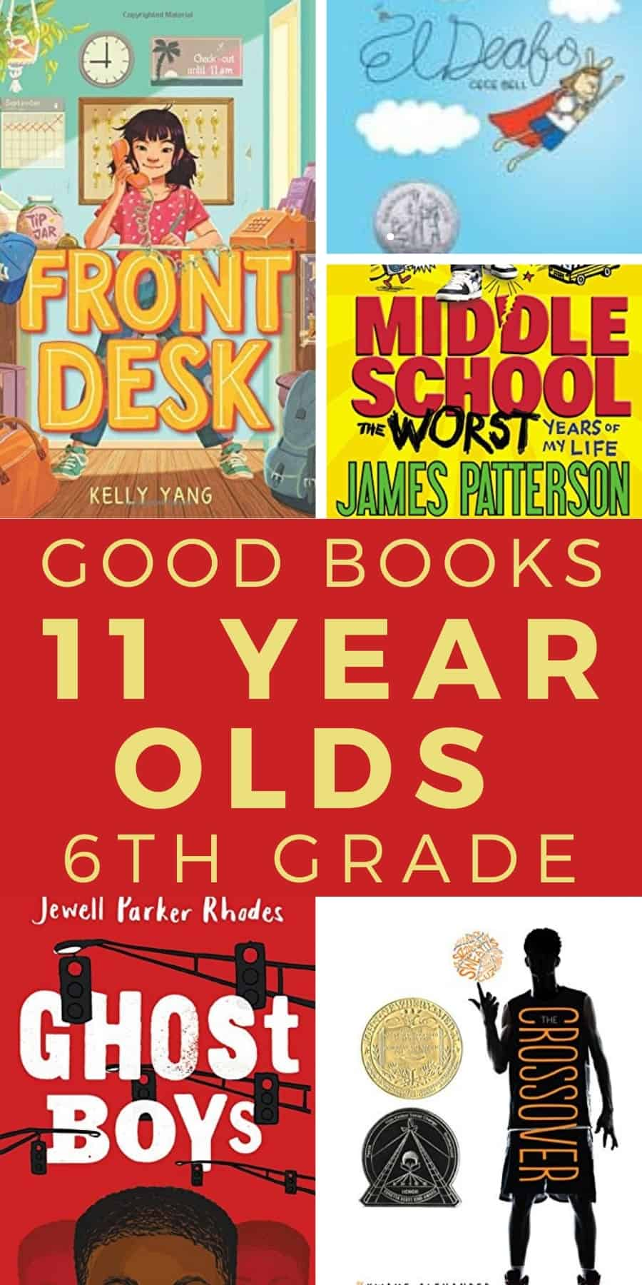 good books for 11 year olds in 6th grade