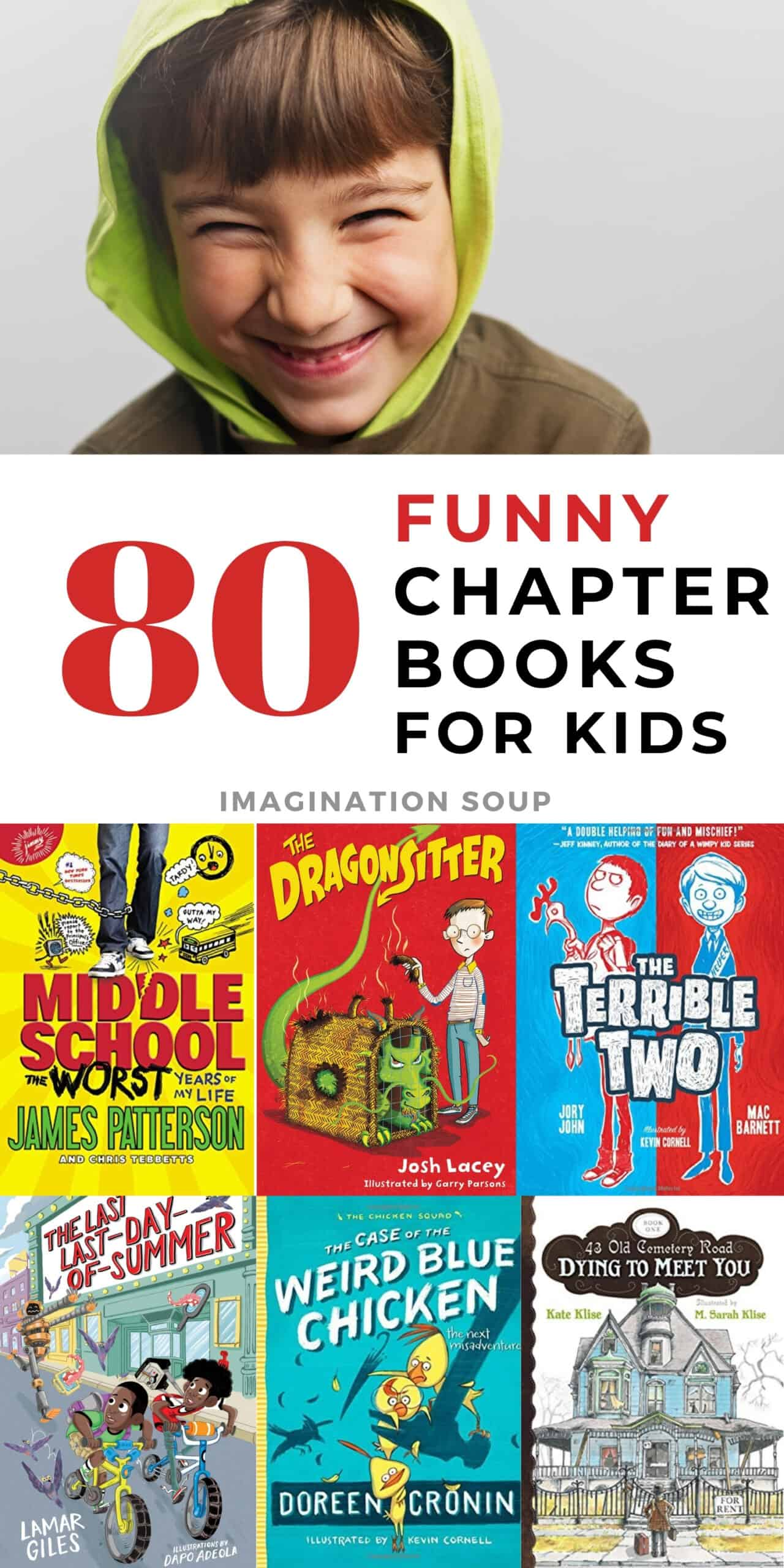 80 funny chapter books for kids (that they'll love to read)