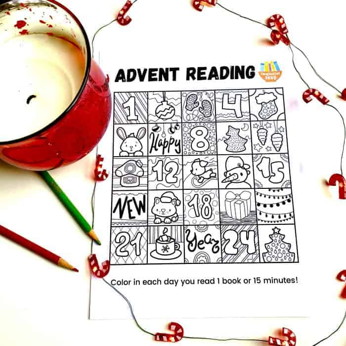 Free Printable Reading Advent Calendar