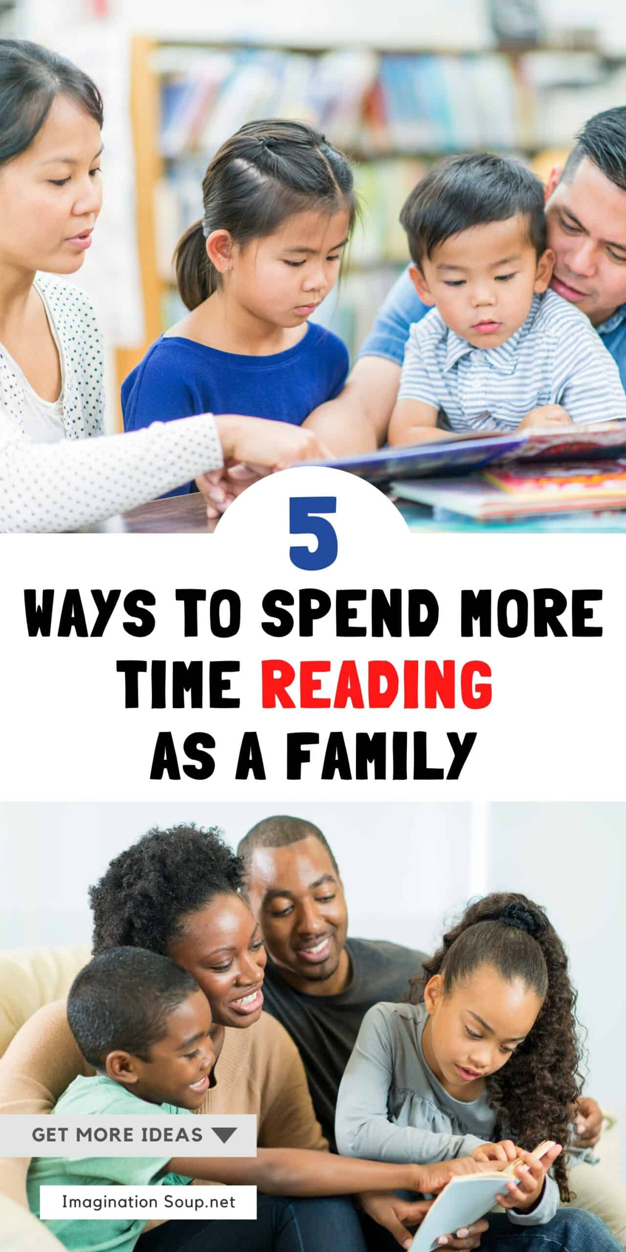 5 Ways to Spend More Time Reading as a Family