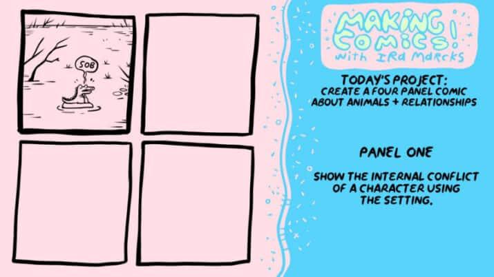 Making Comics Ira Marcks panel 1