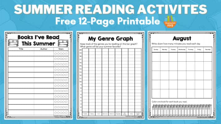 summer reading activities printable packet