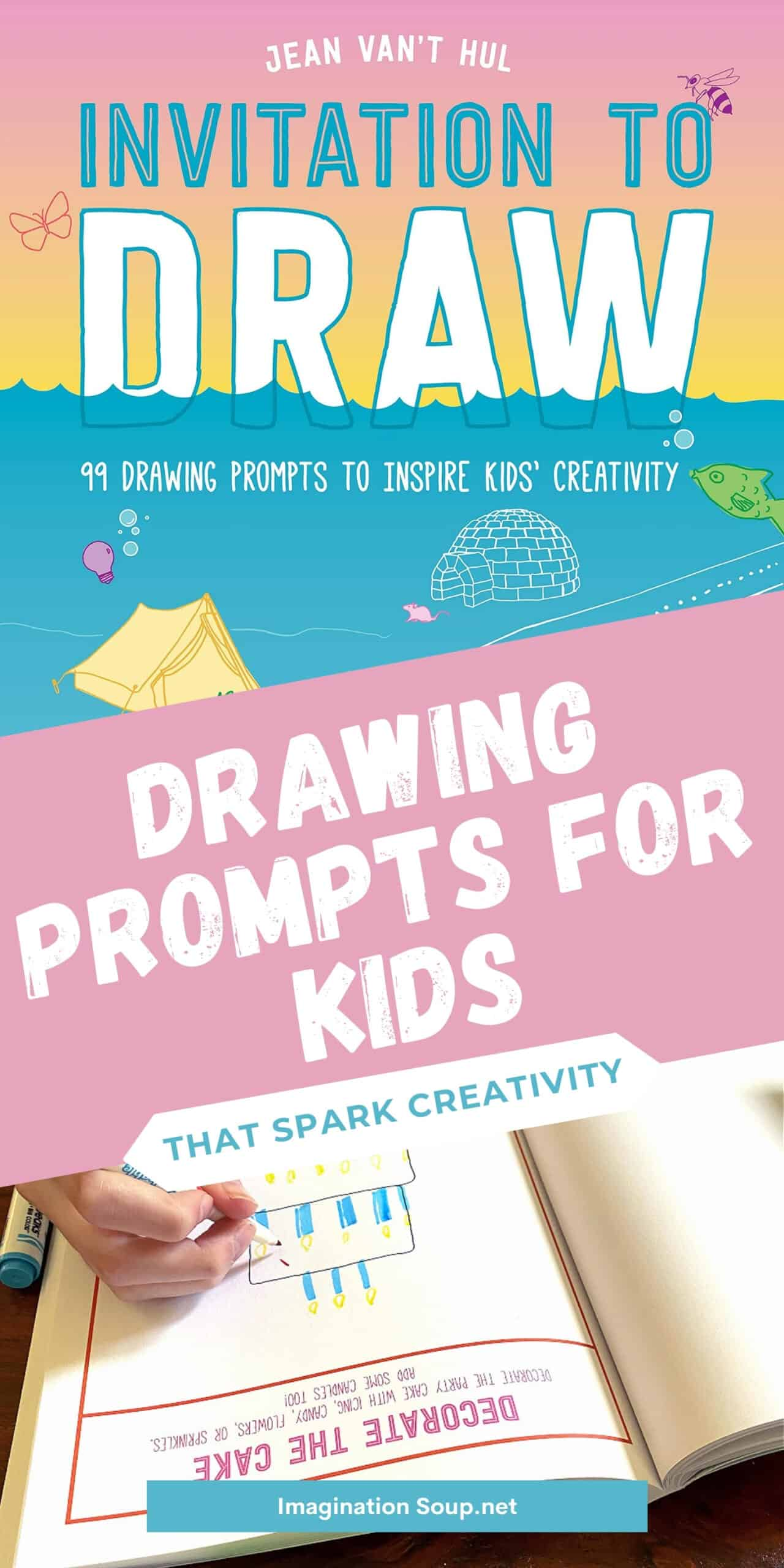 Invitation to draw, children's drawing tips book