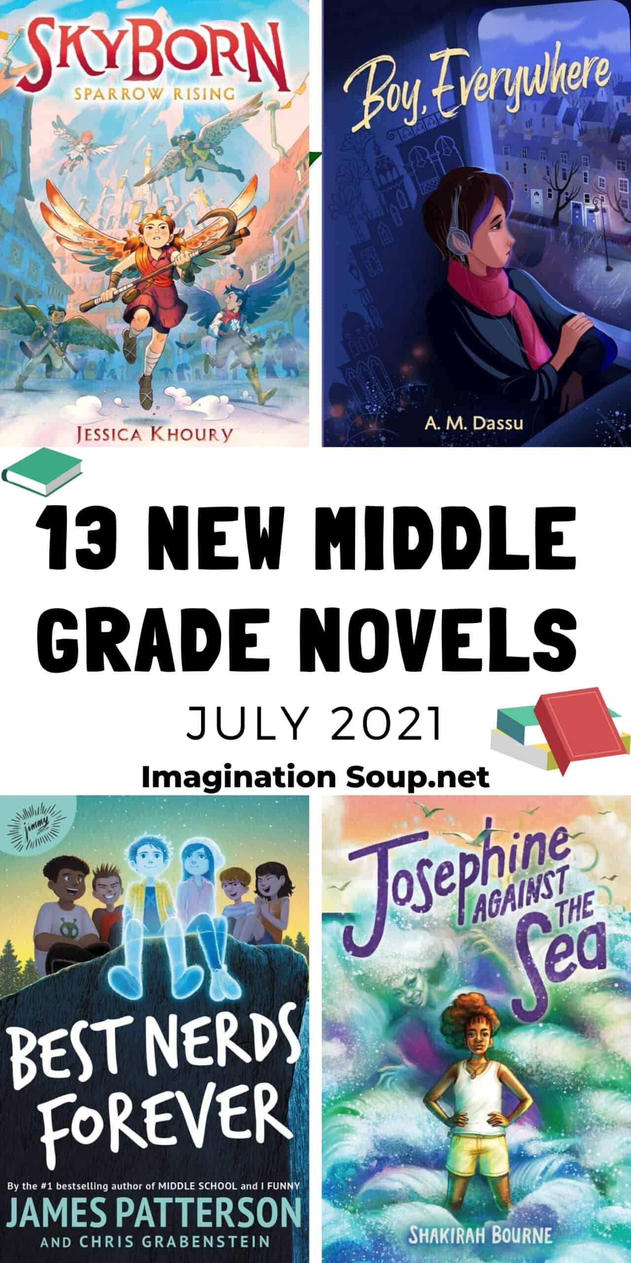 13 new middle grade books for kids, July 2021